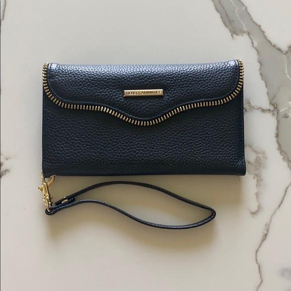 Rebecca Minkoff Black Leather iPhone 8+phone case